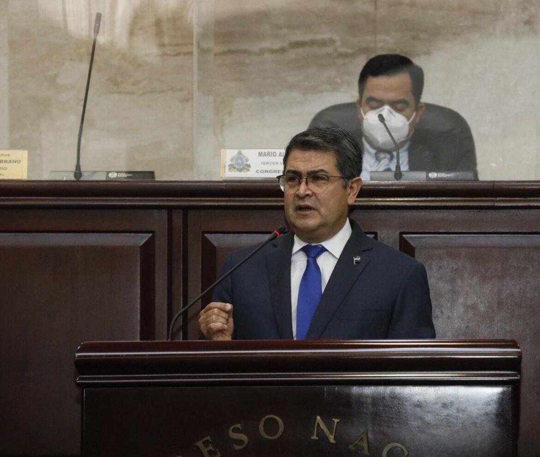 Discurso del presidente de Honduras, Juan Orlando Hernández en Congreso Nacional