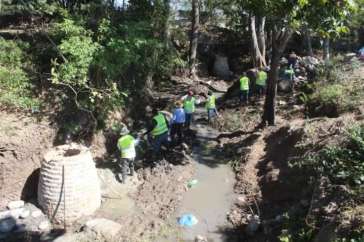 Alcaldía  de Comayagua construye sistema de alcantarillado  sanitario en la CGT y La Guama