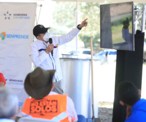 Presidente Hernández entrega capital semilla a campesinas de El Paraíso