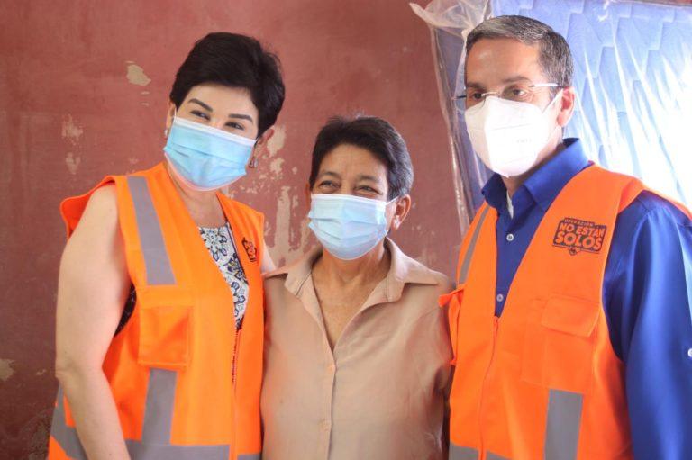 450 familias de colonia Céleo Gonzáles ya han recibido ayuda humanitaria del Gobierno