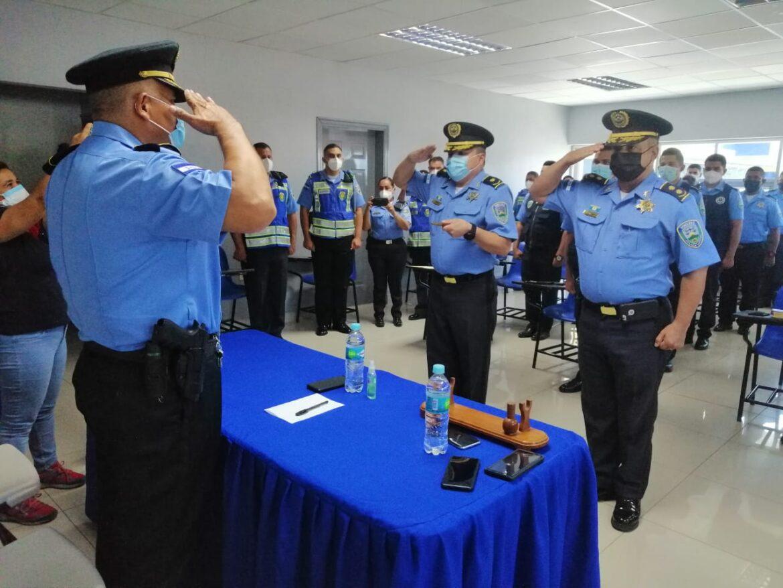 Nuevo comandante asume dirección de la Unidad Departamental Policial con sede en Comayagua