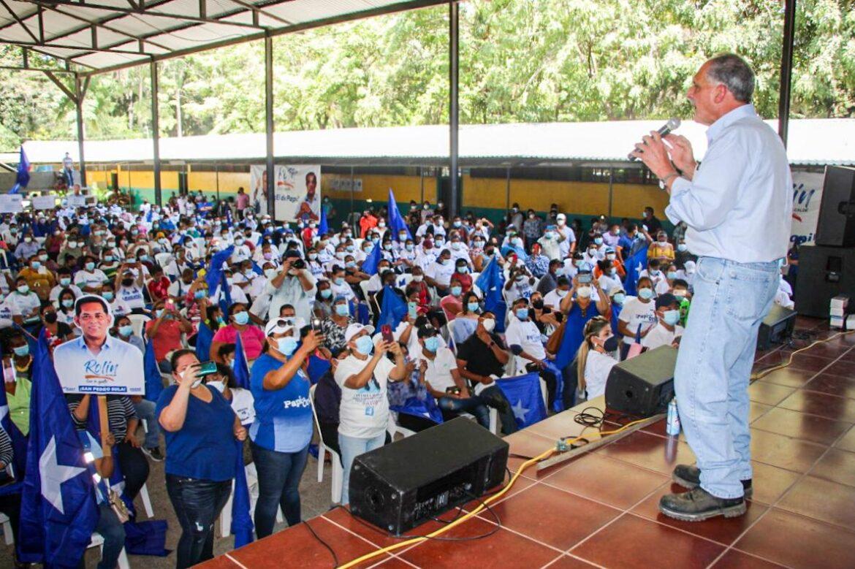 """""""Me comprometo a reconstruir el país"""", afirma Papi a la Orden en San Pedro Sula y Santa Rita"""