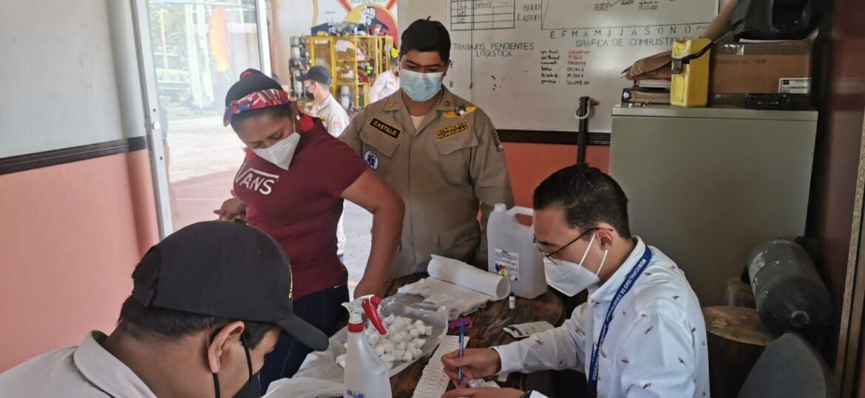 Realizan tamizaje poblacional en el Cuerpo de Bomberos en Siguatepeque