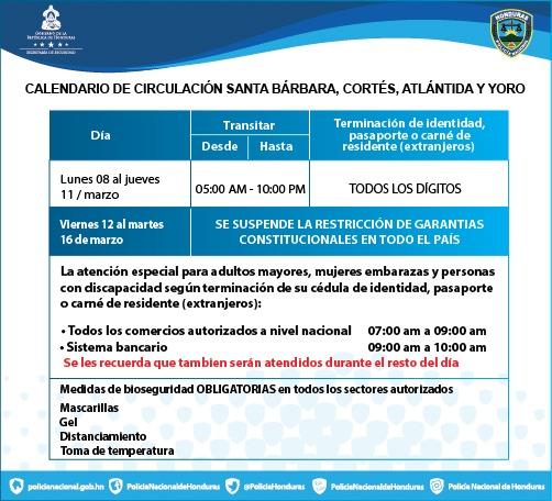 Toque de Queda hasta el 11 de marzo del 2021, en un horario comprendido entre las 10:00 pm y las 05:00 am.