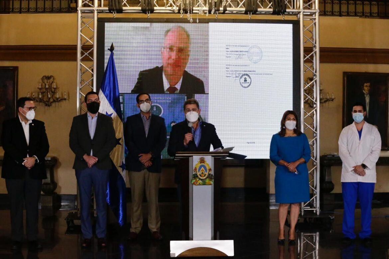 """Informa el presidente Hernández: """"Pueblo hondureño, ya compramos 4.2 millones de dosis de Sputnik V"""""""
