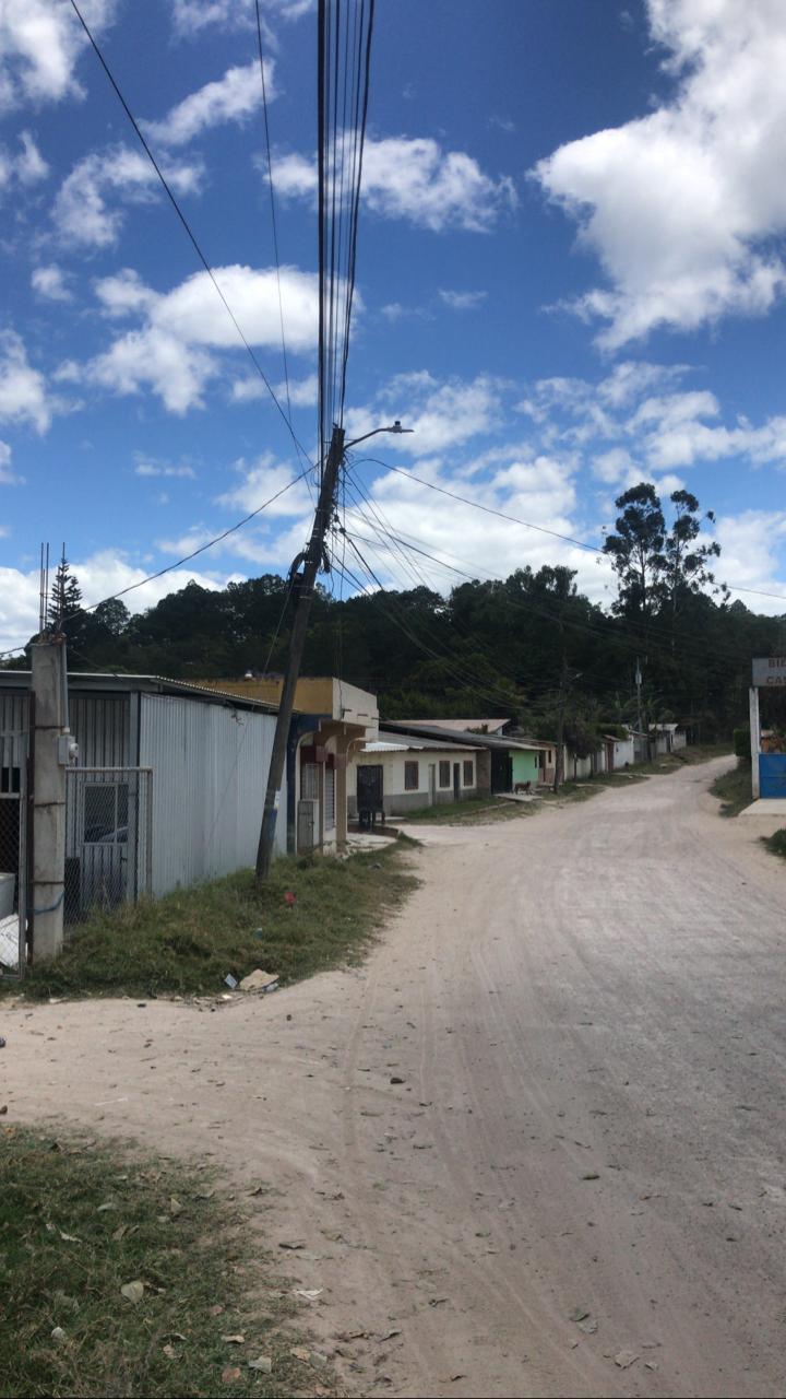 En área Centro Sur sistema regional de Comayagua repotencia alumbrado público en barrios, colonias y aldeas del departamento