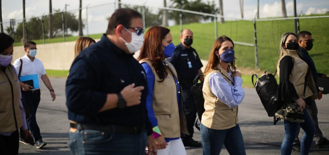 Primera Dama, Ana García de Hernández, inicia recorrido por la frontera sur de EEUU para velar por los derechos de los migrantes