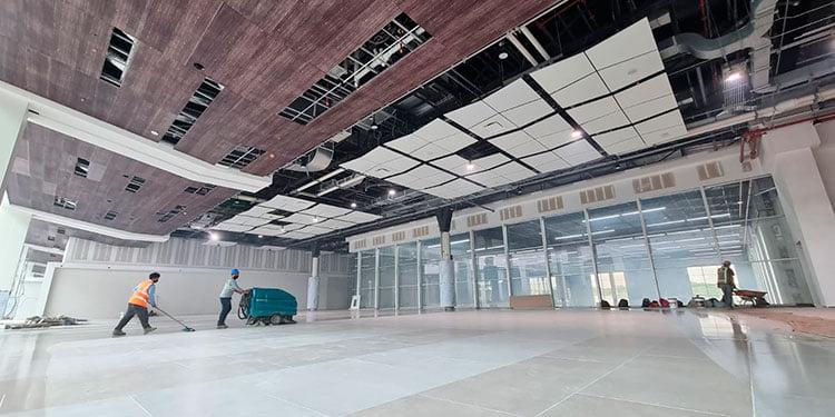 Aeropuerto Palmerola ya exhibe la belleza de sus interiores a medida avanza su construcción