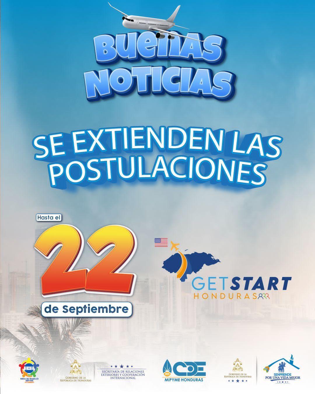 """Hasta el 22 de septiembre tienen los emprendedores para registrarse en """"Get Start Honduras"""""""